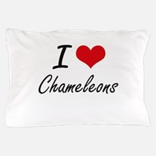 I love Chameleons Artistic Design Pillow Case
