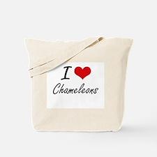 I love Chameleons Artistic Design Tote Bag