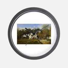 Eugene Boudin - Fervaques, Garden and H Wall Clock