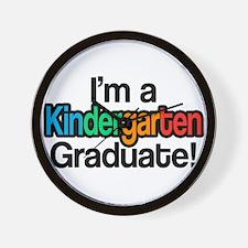 Rainbow Kindergarten Graduate Graduatio Wall Clock