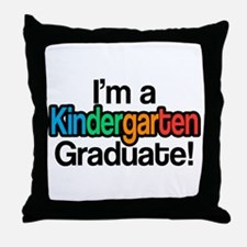 Rainbow Kindergarten Graduate Graduat Throw Pillow