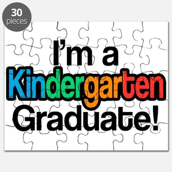 Rainbow Kindergarten Graduate Graduation Puzzle