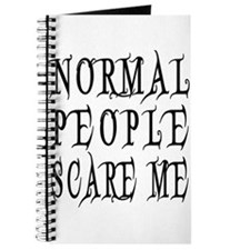 Normal People Scare Me Saying Black Letter Journal