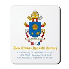 Pope Francis USA Visit Coat of Arms Mousepad