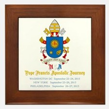 Pope Francis USA Visit Coat of Arms Framed Tile