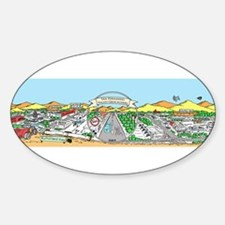 Cute San fernando valley geocachers Sticker (Oval)
