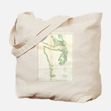 Vintage Map of Coastal Washington State ( Tote Bag