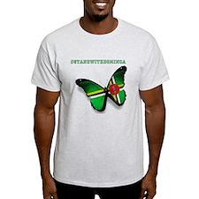Cute Dominica flag T-Shirt