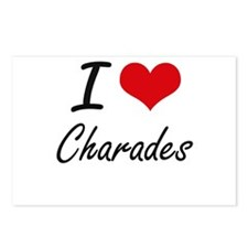 I love Charades Artistic Postcards (Package of 8)