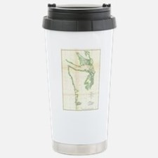 Vintage Map of Coastal Stainless Steel Travel Mug