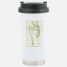 Vintage Map of Coastal Travel Mug