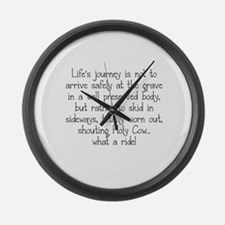LIFE'S JOURNEY... Large Wall Clock