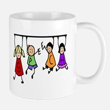 Cute Kids Cartoon Holding Speech Words Mugs