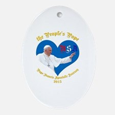 Pope Francis The People's Pope Oval Ornament