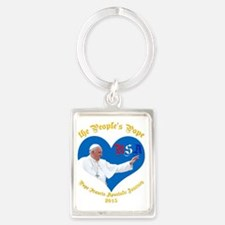 Pope Francis The People's Pope Portrait Keychain