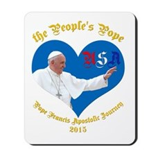Pope Francis The People's Pope Mousepad