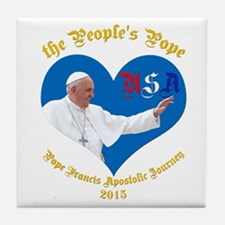 Pope Francis The People's Pope Tile Coaster