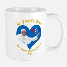 Pope Francis The People's Pope Mugs