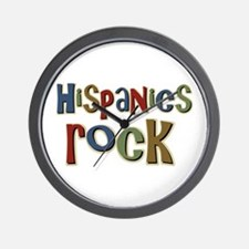 Hispanics Rock Latino Culture Wall Clock