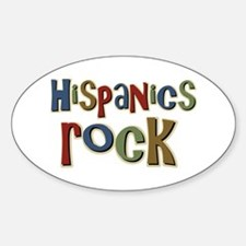 Hispanics Rock Latino Culture Oval Decal