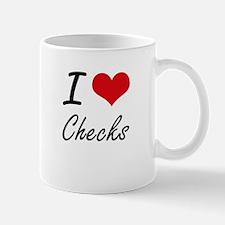 I love Checks Artistic Design Mugs