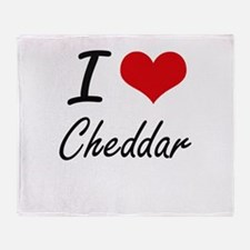 I love Cheddar Artistic Design Throw Blanket