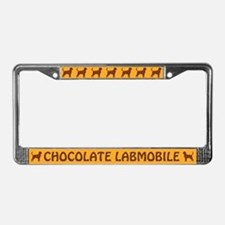 Chocolate Labmobile License Plate Frame