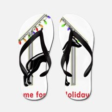 Forever Home for Greyhounds Christmas Flip Flops