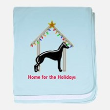 Forever Home for Greyhounds Christmas baby blanket