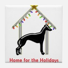 Forever Home for Greyhounds Christmas Tile Coaster