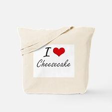 I love Cheesecake Artistic Design Tote Bag