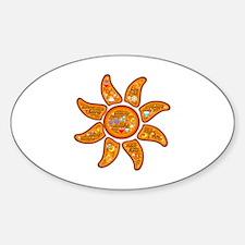 Radiant sun, I AM, awake Sticker (Oval)