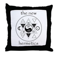 New Hermetics Seal and Title Throw Pillow
