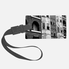 Old Apartment Buildings Luggage Tag