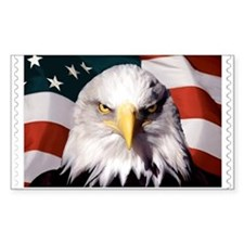 American Bald Eagle with Flag Decal