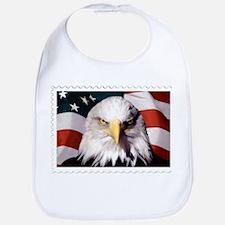American Bald Eagle with Flag Bib