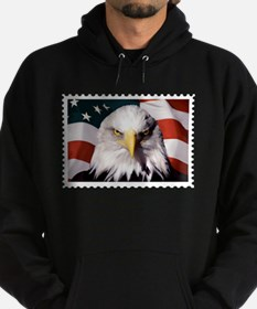 American Bald Eagle with Flag Hoodie