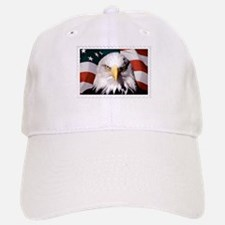American Bald Eagle with Flag Baseball Baseball Cap