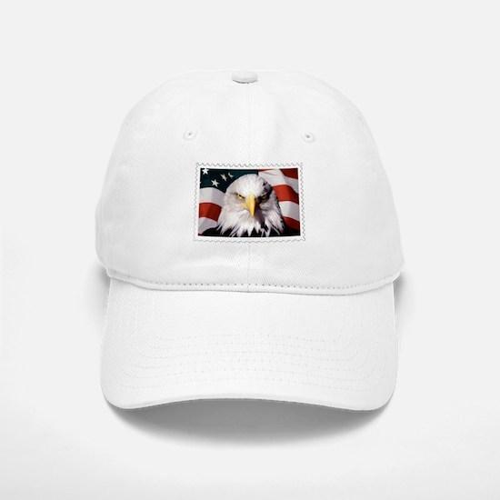 American Bald Eagle with Flag Baseball Baseball Cap