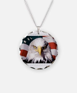 American Bald Eagle with Fla Necklace