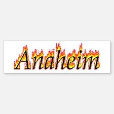 Anaheim Flame Bumper Bumper Bumper Sticker