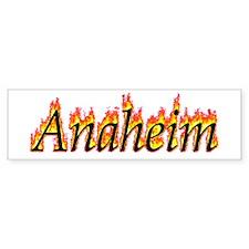Anaheim Flame Bumper Bumper Sticker