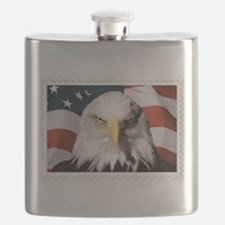 American Bald Eagle with Flag Flask