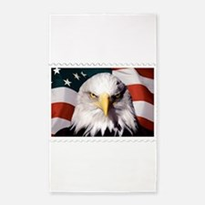American Bald Eagle with Flag Area Rug