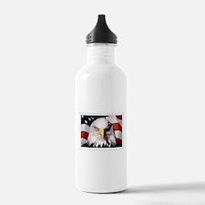 American Bald Eagle wi Water Bottle