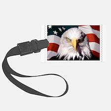 American Bald Eagle with Flag Luggage Tag