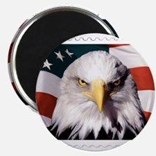 American Bald Eagle with Flag Magnets