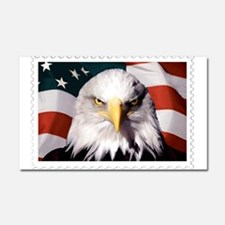 American Bald Eagle with Flag Car Magnet 20 x 12