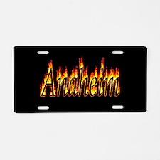 Anaheim Flame Aluminum License Plate