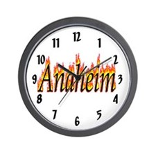 Anaheim Flame Wall Clock